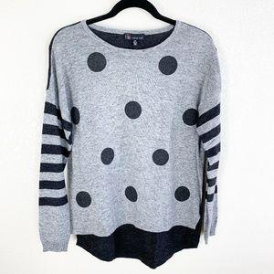 Carre Noir NWT Polka Dot & Stripe Sweater S
